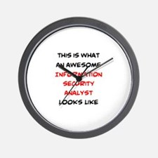 awesome information security analyst Wall Clock