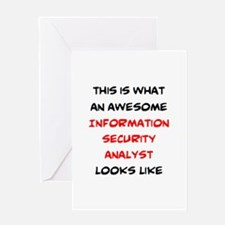 awesome information security analyst Greeting Card
