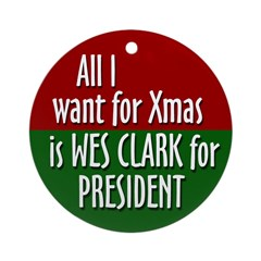 President Wes Clark Xmas ornament