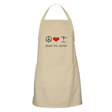 Peace Love Martinis BBQ Apron