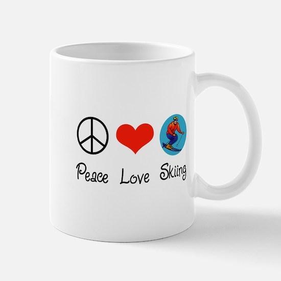 Peace Love Skiing Mug