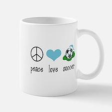 Peace Love Soccer Mug