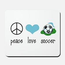Peace Love Soccer Mousepad