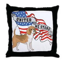 Beagle American Flag Throw Pillow