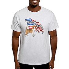 Beagle American Flag T-Shirt