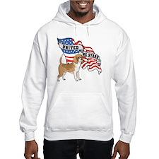 Beagle American Flag Hoodie