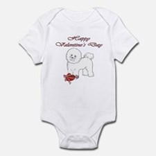 Valentine's Day Bichon Infant Bodysuit