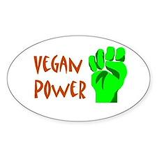 Vegan Power Oval Decal