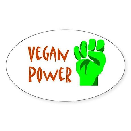 Vegan Power Oval Sticker