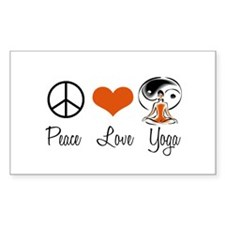 Peace Love Yoga Rectangle Decal