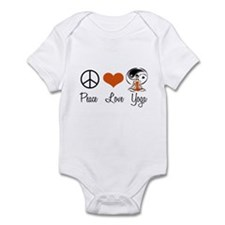 Peace Love Yoga Infant Bodysuit