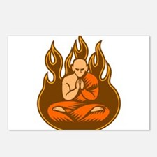 Monk with Flames Postcards (Package of 8)