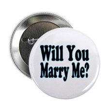 """Will You Marry Me? His 2.25"""" Button"""