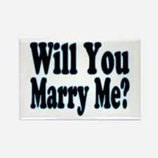 Will You Marry Me? His Rectangle Magnet