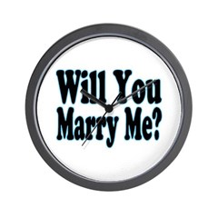 Will You Marry Me? His Wall Clock