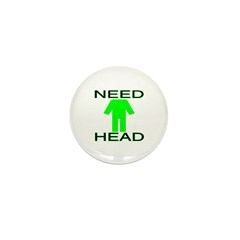 Need Head Mini Button (10 pack)