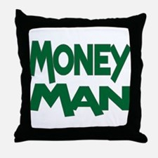 Money Man Throw Pillow