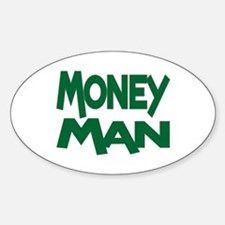 Money Man Oval Decal
