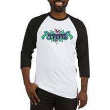 Yvette's Purple-Green Butterfly Name Baseball Jers