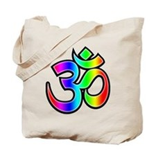 Om - Rainbow Tote Bag