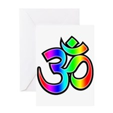 Om - Rainbow Greeting Card