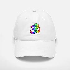 Om - Rainbow Baseball Baseball Cap