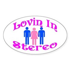 Woman Stereo Oval Decal