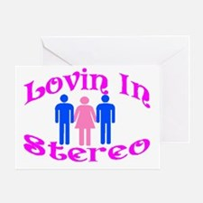 Woman Stereo Greeting Card