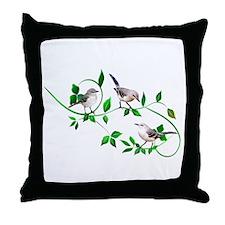 Mockingbirds Throw Pillow