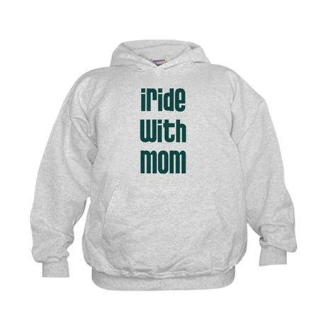 I Ride with Mom - Kids Hoodie