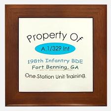 1st Bn 329th Inf Prop Framed Tile