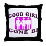 Good Girl Gone Bi Throw Pillow
