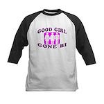 Good Girl Gone Bi Kids Baseball Jersey