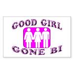 Good Girl Gone Bi Rectangle Sticker