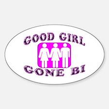 Good Girl Gone Bi Oval Decal