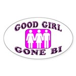 Good Girl Gone Bi Oval Sticker (10 pk)