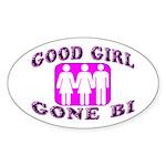 Good Girl Gone Bi Oval Sticker (50 pk)