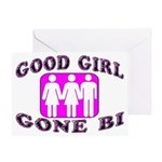 Good Girl Gone Bi Greeting Card