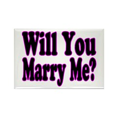 Will You Marry Me? Hers Rectangle Magnet (10 pack)