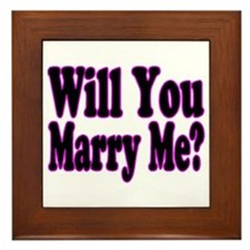 Will You Marry Me? Hers Framed Tile