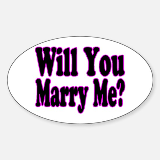 Will You Marry Me? Hers Oval Decal