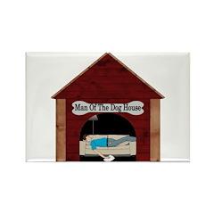 Dog House Man Rectangle Magnet (100 pack)