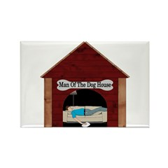 Dog House Man Rectangle Magnet (10 pack)