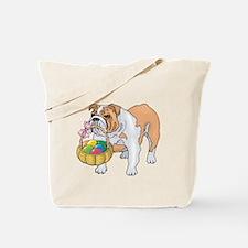 Bulldog Easter Tote Bag
