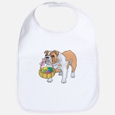 Bulldog Easter Bib