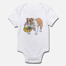Bulldog Easter Infant Bodysuit