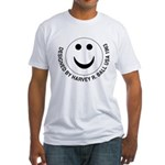 Silly Smiley #39 Fitted T-Shirt