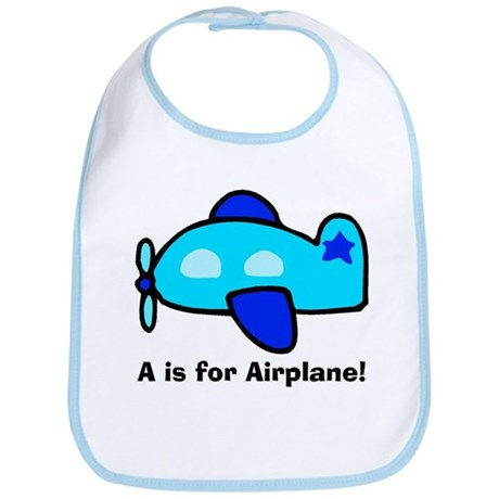 A is for Airplane! Bib