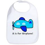 Baby airplane Cotton Bibs