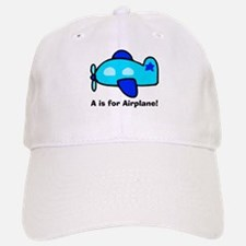 A is for Airplane! Baseball Baseball Cap